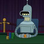 a futuristic robot poker